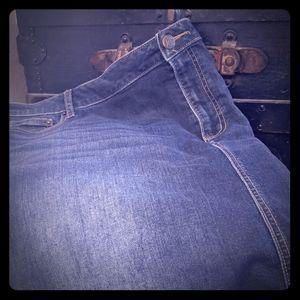 Women's blue denim knee-length skirt by Westport